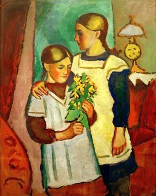 Zwei Schwestern - August Macke