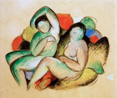 Zwei weibliche Akte - Franz Marc