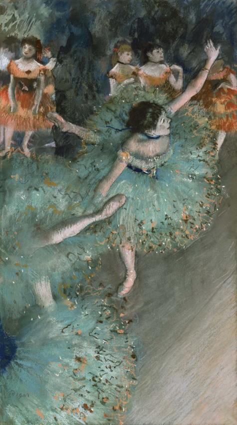 Reprodukcja 'Green Dancers - Edgar Degas'