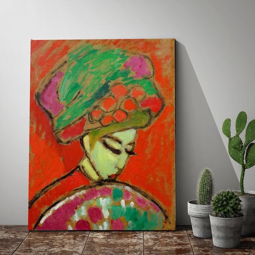 'Girl with flower hat'