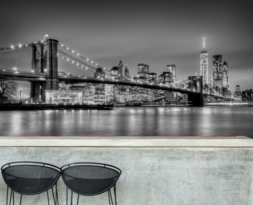 Fototapeta 'Brooklyn bridge at dusk, NYC'