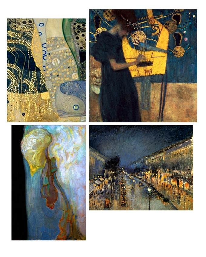 Klimt, Mondrian, Pissaro