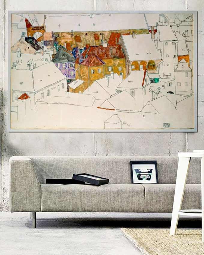 'Yellow town' - Egon Schiele