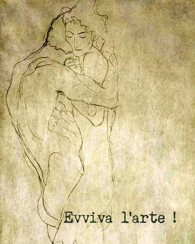 'Lovers' Gustav Klimt