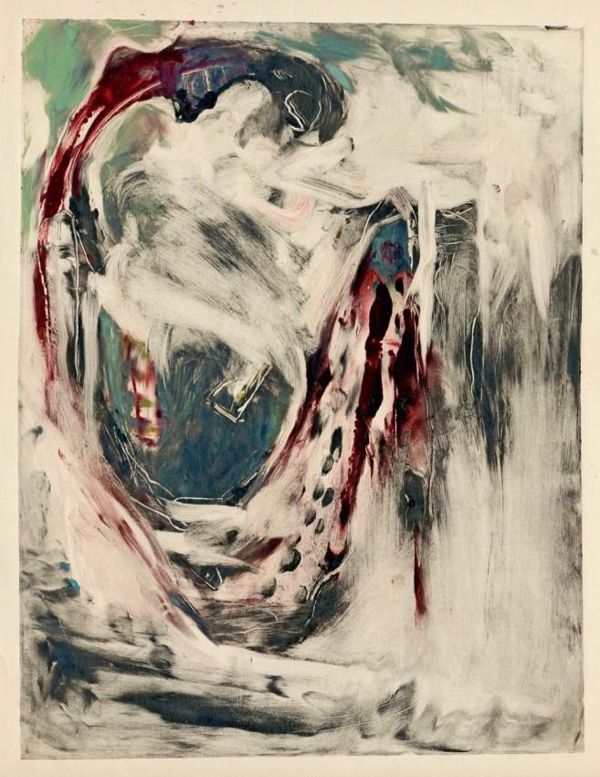 Obraz na płótnie 'ABSTRACTION, HAND PAINTED, TEMPERA'