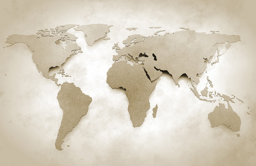 Fototapeta 'World map vintage'