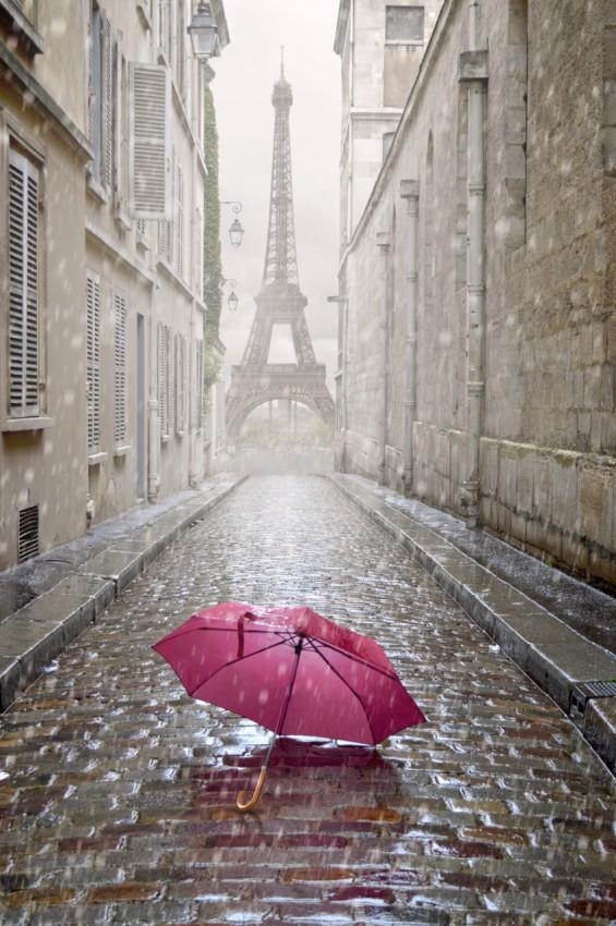 OBRAZ NA PŁÓTNIE 'A RAINY DAY IN PARIS'