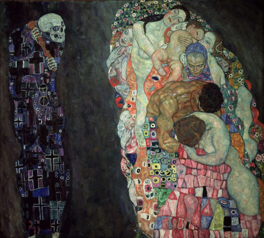 Plakat 'DEATH AND LIFE - GUSTAV KLIMT'