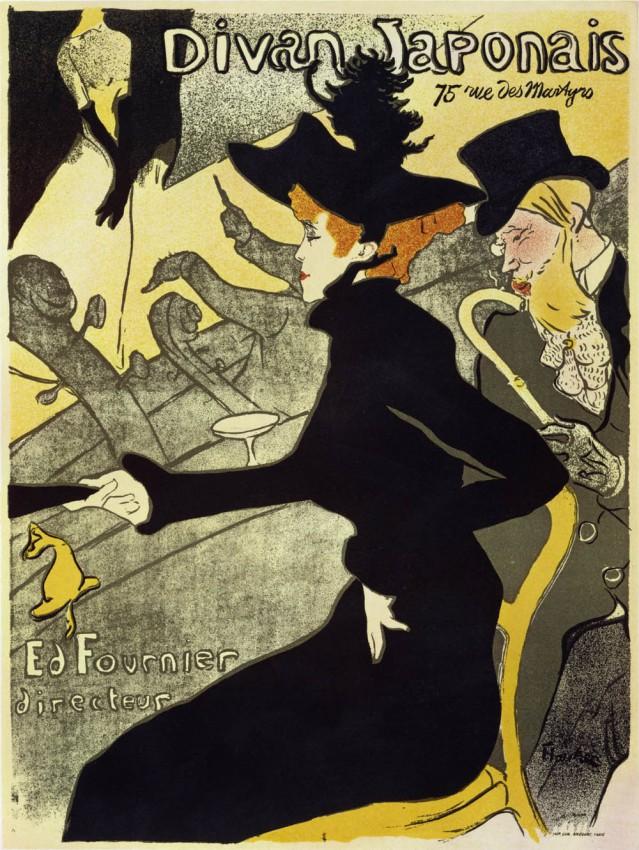 Reprodukcja 'Divan Japonais - Henri de Toulouse-Lautrec'