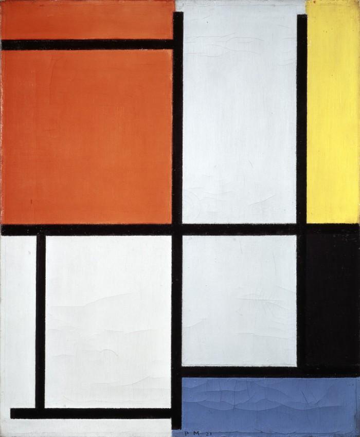 Reprodukcja na płótnie 'Tableau 3 - Piet Mondrian'