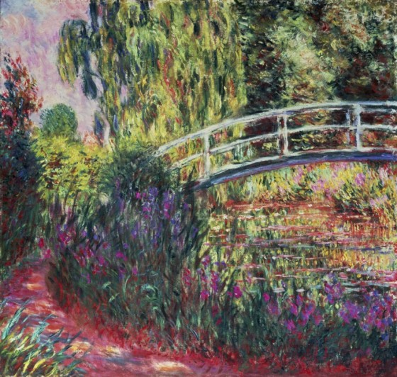 Reprodukcja na płótnie 'The Japanese Bridge in the Garden at Giverney - Claude Monet'